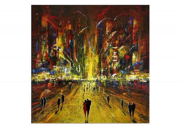 """Modernes Gemälde, K. Namazi: """"Die Nacht ist bunt I"""" (ri, A)"""