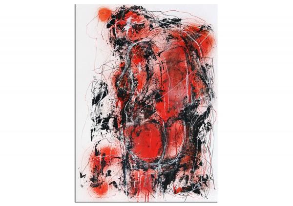 """Zeitgenössische Grafik/Malerei, Ilona Schmidt: """"Rot, Rot, Rot I"""""""