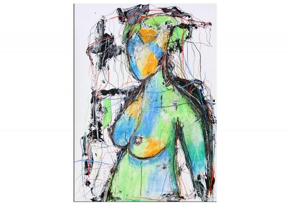Abstrakter Akt Frau