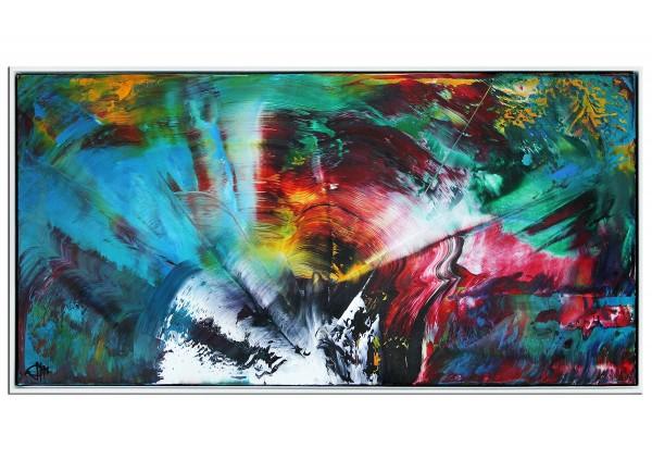 """Acrylgemälde, G. Hung: """"Im Ereignishorizont I"""" (ri)"""