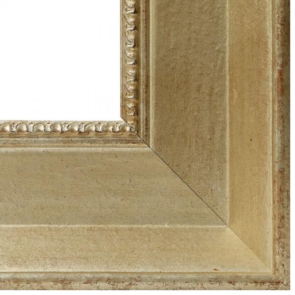 Premium Bilderrahmen Holz silber antik HR-910062-s, inkl. Blendrahmbleche