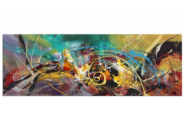 """Acrylgemälde, G. Hung: """"Farbwellendynamik"""""""