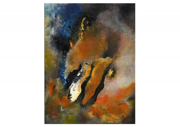 "Expressive Acrylmalerei, I. Schmidt: ""Aufbruch"""
