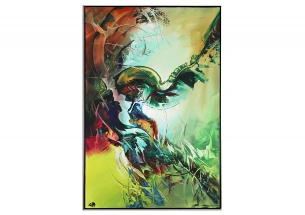 "Acrylgemälde, G. Hung: ""Titanenaufstand VII"" (ri)"
