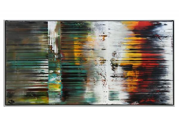 """Acrylgemälde, G. Hung: """"Streiflichter der Nacht"""" (ri)"""