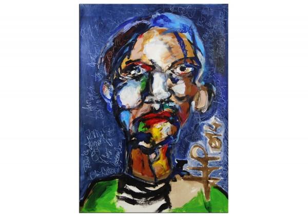"Neoexpressionismus, Porträt, J.J. Piezanowski: ""Ça t'apprendra à quitter l'ècole"""