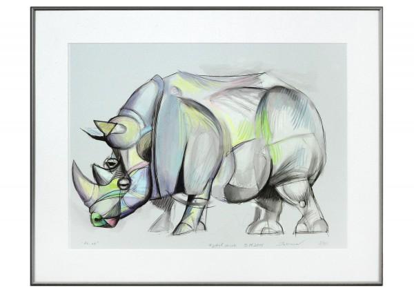"""Limitierter Kunstdruck, Stefan Petrunov: """"Rhino III"""" (A)"""