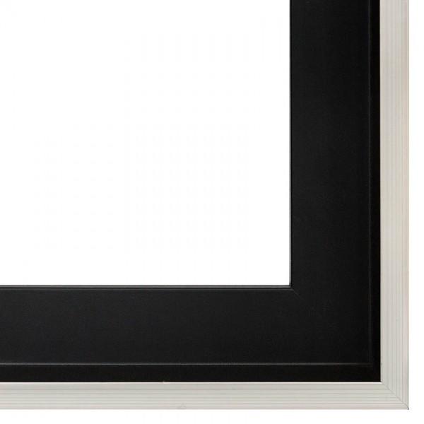 Premium Schattenfugenrahmen schwarz & silber SR-M4035A1262SF-s, Bilderrahmen Holz, modern