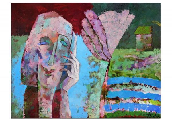 """Moderne Ölgemälde von Andy Larrett: """"Frühling"""" (A)"""
