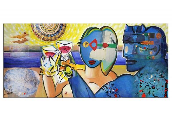 """Modernes Gemälde von K. Namazi: """"Summer Day"""", Originalgemälde (Unikat) (A)"""