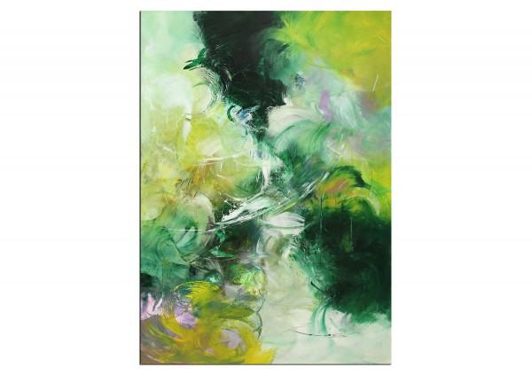 """Abstrakte Acrylmalerei, C. Middendorf: """"Aufgehende Saat II"""""""