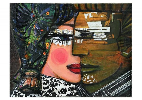 """Moderne Malerei von K. Namazi: """"Seelenpartner II"""""""