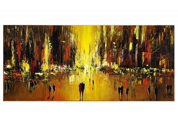 """Modernes Gemälde, K. Namazi: """"In Gold erstrahlt die Nacht II"""" (E)"""