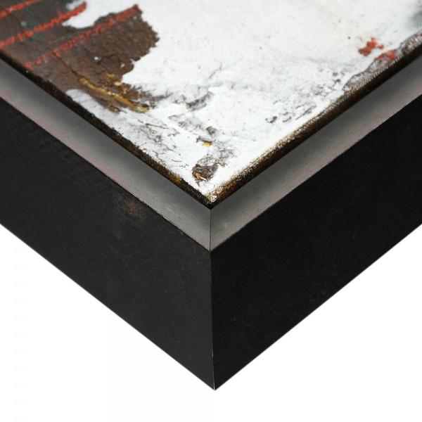 Premium XL Schattenfugenrahmen schwarz/silber, SR-63962-ss, Bilderrahmen Holz, modern