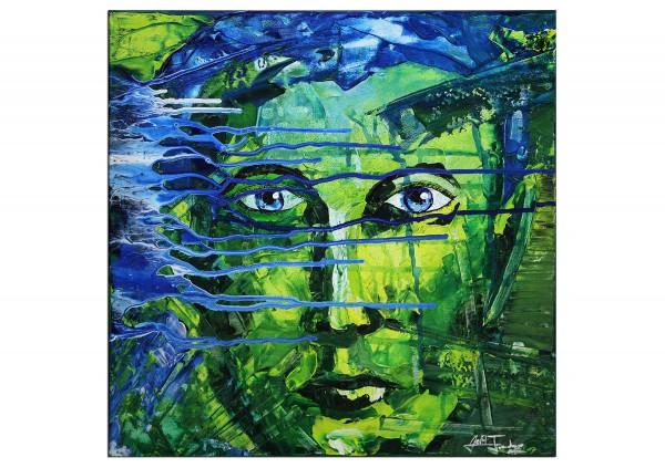 "Acrylmalerei abstrakt, Julio Fernandez: ""Cry Baby"" (E)"
