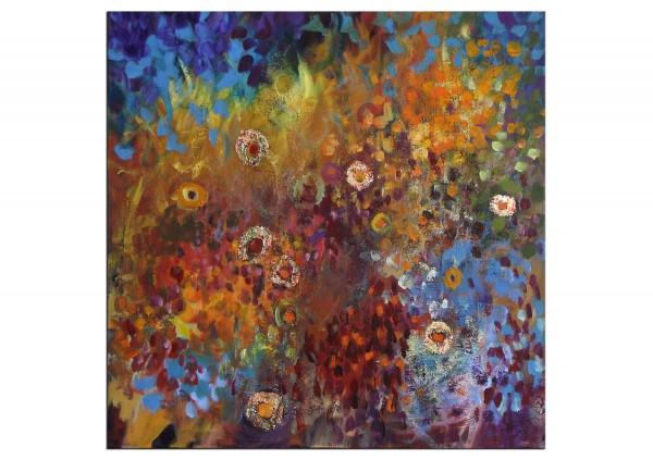 "Gemälde abstrakt, Maya: ""Blumenfülle"""