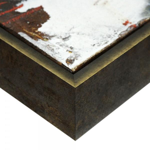 Premium XL Schattenfugenrahmen schwarz/gold, SR-63963-sg, Bilderrahmen Holz, modern