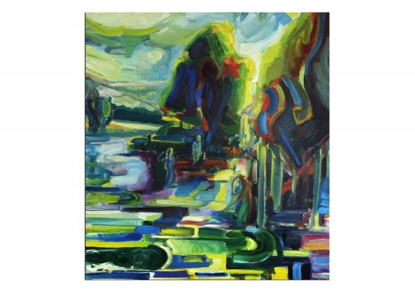 "Expressionistische Ölmalerei, Maciej Cieśla: ""Wassernixe"""