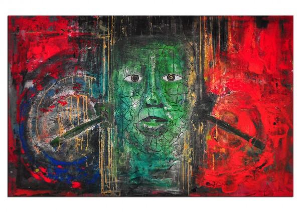 "Acrylgemälde, C. David Schwartz: ""PAKAL IN TRANCE"", Originalgemälde (Unikat)"