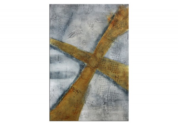 "Acrylmalerei abstrakt, A. Freymuth: ""Heavy Cross"""