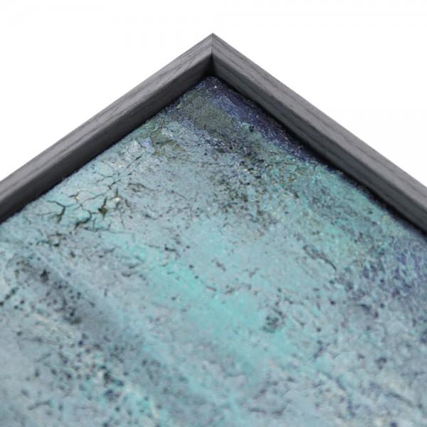 Premium XL Schattenfugenrahmen blaugrau, SR-45053-bg, Bilderrahmen Holz, modern