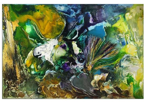 "Moderne Ölbilder kaufen von B. Ossowski: Großformat ""Exodus"", Originalgemälde (Unikat)"