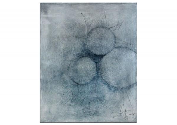 """Acrylbild von A. Freymuth: """"Cells"""""""