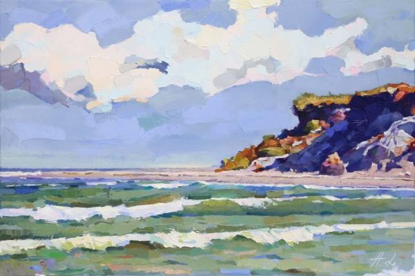 """A. Larrett: """"Nordwind"""", Pleinairmalerei in Öl, Original/Unikat (A)"""