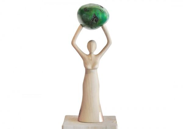 "Plastik, Skulptur - J. Zipfel : ""GRÜN IST DIE"""