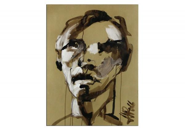 """Neoexpressionismus, Porträt, J.J. Piezanowski: """"Mais entends-tu"""""""