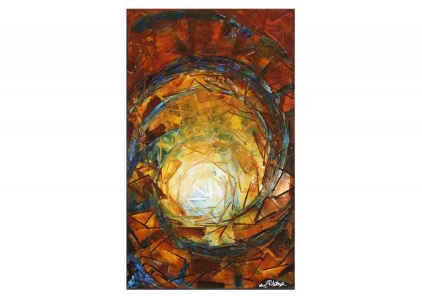 "Abstraktes Gemälde, R.König: ""Licht & Wasser I"""