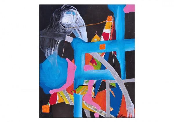 """Acrylgemälde, E.v.d.Meer: """"A MATTER OF TIME"""""""
