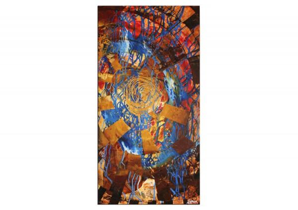 """Gemälde abstrakt, R.König: """"Burning Man I"""""""