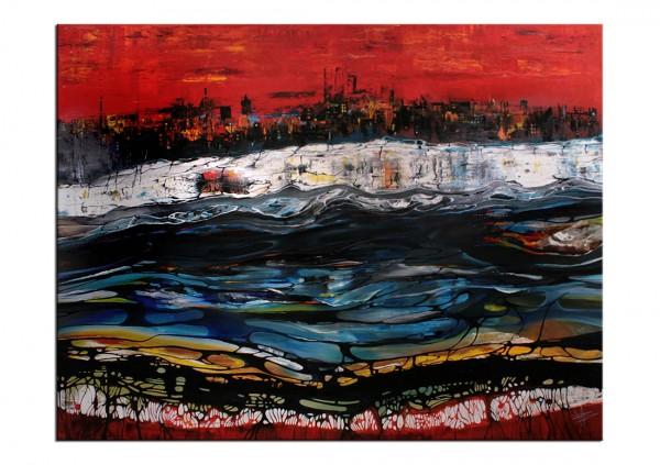 """Ölmalerei im Großformat, B. Ossowski: """"NEW YORK"""""""