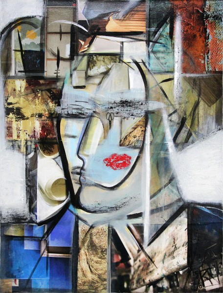 "K. Namazi: ""Der Kuss"", originales Gemälde (Unikat) (A)"