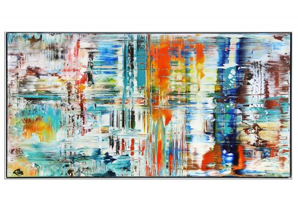 "Acrylgemälde, G. Hung: ""Analytisches Raster I"" (ri)"