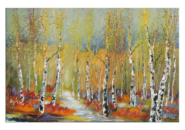 "Acrylgemälde, M.Kühne: ""Herbstspaziergang"""