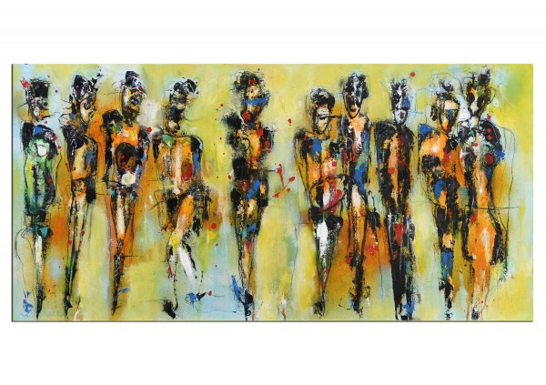 """Expressive Acrylmalerei, I. Schmidt: """"Feel free and dance"""" (A)"""