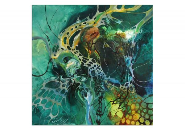 "Modernes Gemälde, B. Ossowski: ""Green Methamorphose"""