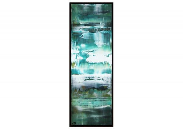 "Abstraktes Acrylgemälde, G. Hung: ""Nordische See II"" (ri)"