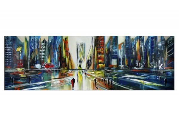 """Modernes Gemälde, K. Namazi: """"Urbane Illusion"""" (ri)"""