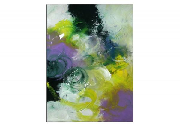"""Abstrakte Acrylmalerei, C. Middendorf: """"Aufgehende Saat III"""""""