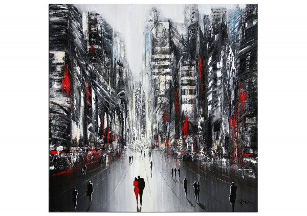 "Modernes Gemälde, K. Namazi: ""Urbane Gegensätze V"" (ri)"
