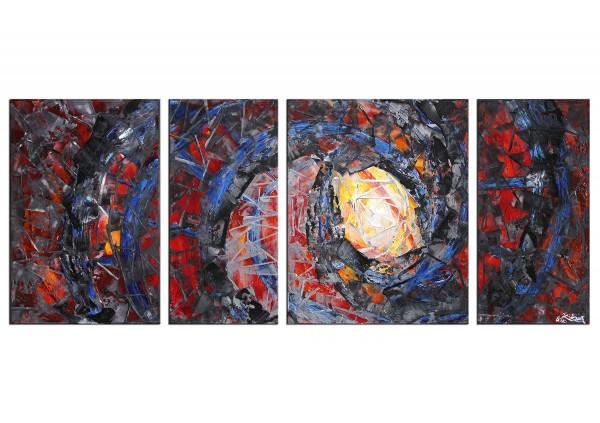 "R.König: ""Deep Passion I"", mehrteilige Acrylbilder, Originalgemälde (Unikat)"