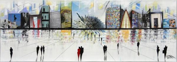 """K. Namazi: """"Virtuelle Fassaden I"""", moderne Originalkunst (Unikat) (ri, A)"""