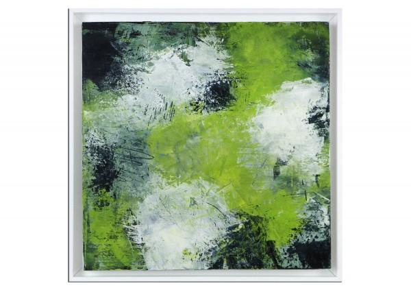 """Abstrakte Acrylmalerei, M.Rick: """"abstract green"""" (A)"""