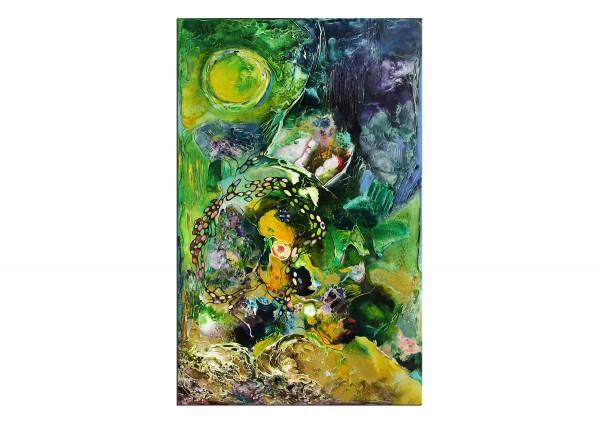 "Ölbild abstrakt, B. Ossowski: ""Dream Island"""