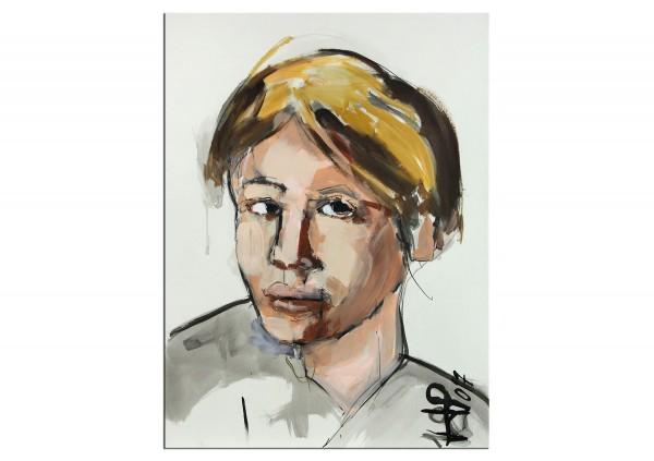 """Neoexpressionismus, Porträt, J.J. Piezanowski: """"Une caresse du vent"""" (A)"""