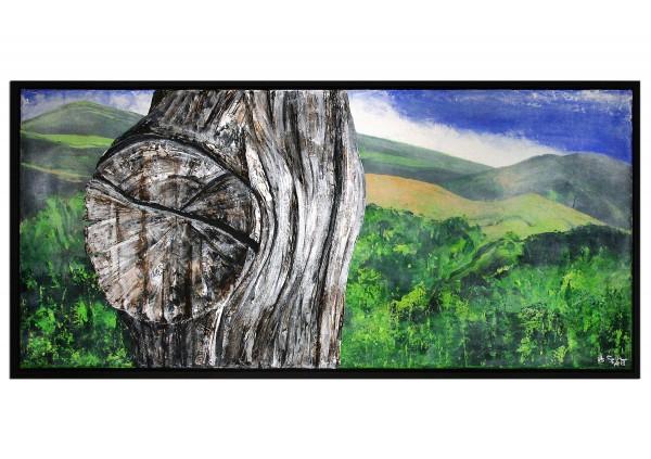 "Acrylgemälde, A.Garbe: ""Holz vs. Landschaft: Madeira 2016"", Originalgemälde (Unikat) (A, G)"