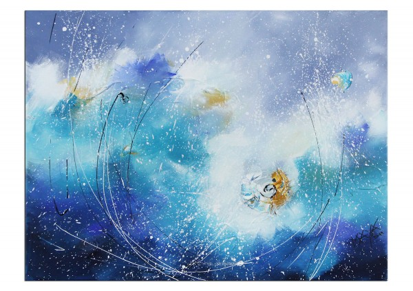 "Acrylbilder, Maya: ""Magic blue"""